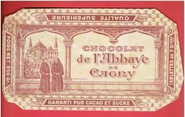 EMBALLAGE ANCIEN COMPLET POUR PLAQUETTE DE CHOCOLAT SUPERIEUR DE L ABBAYE DE GAGNY SEINE SAINT DENIS  SUCRE ET  CACAO - Cioccolato