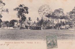 1909-Trinidad Residences Queen's Park, Cartolina Viaggiata - Cartes Postales