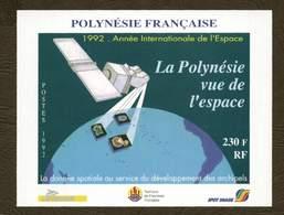Polynésie **  Bloc N° 19 - Année De L' Espace - - Blokken & Velletjes