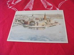 ILLUSTRATORE VEDI SIGLA STOCCOLMA STOCKHOLM VIEW FROM THE TOWN HALL TOWER VISTA AEREA - Illustratori & Fotografie