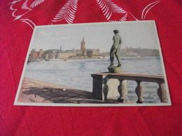 ILLUSTRATORE VEDI SIGLA STOCCOLMA STOCKHOLM STATUA NUDO DONNA VIEW FROM THE TOWN HALL GARDEN - Illustratori & Fotografie