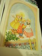 BUON NATALE  ILLUSTRATA BAMBINI ANGELO  VB1953 HI3097 - Natale