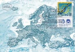 ISRAEL, 1992, Maxi-Card(s), European Single Market, SG1198,  F5442 - Tarjetas – Máxima