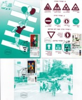 ISRAEL, 1993, Maxi-Card(s), Road Safety, SG1213-1215, F5451 - Tarjetas – Máxima