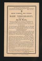 MARIE VERSCHRAEGEN  EXAARDE - ZEVENEKEN  88 JAAR OUD - Obituary Notices