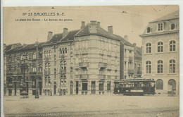 CP.Bruxelles-Schaerbeek (ex-Collection DELOOSE) - (Les TRAMWAYS TRAM BRUXELLOIS) Place Des Gueux, Le Bureau Des Postes T - Schaerbeek - Schaarbeek