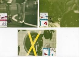 ISRAEL, 1994, Maxi-Card(s), Health Well Being, SG1233-1235, F5463 - Tarjetas – Máxima