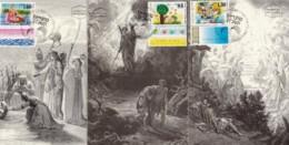 ISRAEL, 1994, Maxi-Card(s), New Year - Festivals Children, SG1249-1251, F5473 - Tarjetas – Máxima