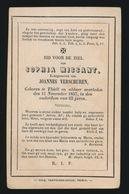 SOPHIA MISSANT TIELT -  1857     63 JAAR OUD - Avvisi Di Necrologio