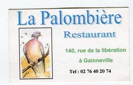 CdV °_ Resto-76-Gaineville-Restaurant La Palombière - Visitekaartjes