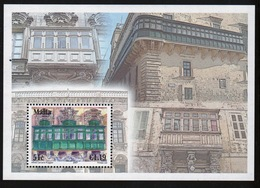 Malta 2007 Mini Sheet Celebrating Maltese Balconies. - Malta