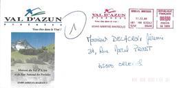VAL D'AUZIN (65), Vous êtes Dans Le Vrai!, Sur Enveloppe, TB - Postmark Collection (Covers)