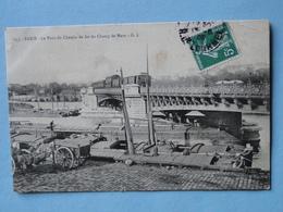 PARIS -- Pont Chemin Fer Du Champ Mars - Train - Péniches Et Marinier - Carriole Letellier & Devaux - Cpa PEU COURANTE - France
