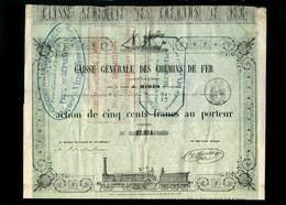 T-FR Caisse Générale Des Chemins De Fer 1856 - Chemin De Fer & Tramway