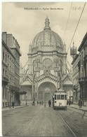 CP.Bruxelles-Schaerbeek (ex-Collection DELOOSE) - (Les TRAMWAYS TRAM BRUXELLOIS) Eglise Sainte-Marie TRAM 11 - W0264 - Schaarbeek - Schaerbeek