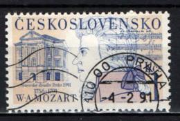 CECOSLOVACCHIA - 1991 - Wolfgang Amadeus Mozart (1756-1791), Old Theatre - USATO - Gebraucht
