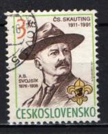 CECOSLOVACCHIA - 1991 - A. B. Svojsik (1876-1938), Czech Scouting Founder -Scouting In Czechoslovakia, 80th Anniv. - Gebraucht