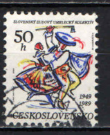 CECOSLOVACCHIA - 1989 - Slovak Folk Art Collective, 40th Anniv. - USATO - Gebraucht