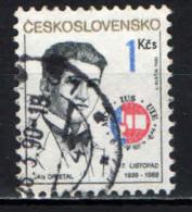 CECOSLOVACCHIA - 1989 - Jan Opletal (1915-39) - Intl. Student's Day. Funeral Of Opletal, A Nazi Victim - USATO - Gebraucht