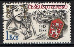 CECOSLOVACCHIA - 1988 - Czechoslovak Republic, 70th Anniv. - USATO - Usati