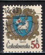 CECOSLOVACCHIA - 1982 - Arms Of Trencin - USATO - Oblitérés