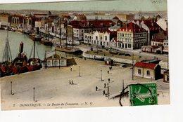 Dunkerque Le Bassin Du Commerce   ( Bateau Feu ,  Victoria Hôtel , Quai De La Citadelle ... - Dunkerque