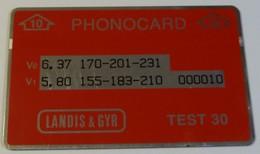 MOROCCO - L&G - Landis & Gyr - ENGINEER TEST - 10ex - RRR - Maroc