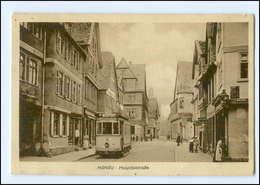 XX008182/ Hanau Hospitalstraße Straßenbahn 1910 AK - Germania