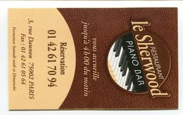 CdV °_ Resto-75002-Le Sherwood-Piano Bar - Cartoncini Da Visita