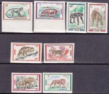 "1972-(MNH=**) Congo S.8v.non Dentellati ""animali Selvatici "" - Mint/hinged"