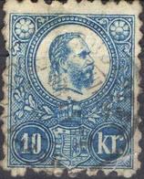 HONGRIE !  Timbre Ancien De 1871 N°4 Bleu  ! ANNULATION De BOSARKANY - Hongrie
