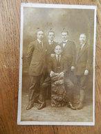 ST MARC NAMUR +MILITARIA :PHOTO CARTE D'HOMMES  EN 1917 ENVOYE A MUNSTER WESTPHALIE POUR UN PRISONNIER AVEC CACHET - Namur