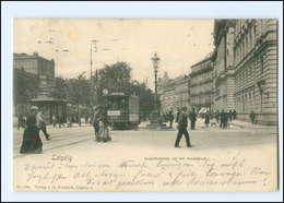 XX007804/ Leipzig Augustusplatz An Der Hauptpost Straßenbahn 1902 AK - Leipzig