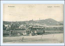 XX007758/ Ungarn Budapest Zugliget Auwinkel Straßenbahn 1910 AK - Hungary