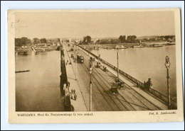 Y13633/ Warszawa Warschau Straßenbahn AK Brücke 1931 Polen  - Polonia