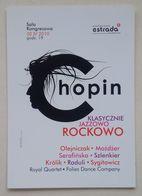 Chopin Classic, Jazz & Rock Concert Advertisement Publicité Warsaw Varsovie 2010 - Pubblicitari