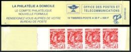 NOUV.-CALEDONIE 1992 - Yv. Carnet C588 **   Faciale= 4,19 EUR - 10 Ex Yv. 588 Cagou 50f Rouge  ..Réf.NCE25297 - Booklets
