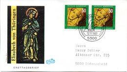 """BRD Schmuck-FDC """"750. Todestag Der Hl. Elisabeth"""" 2x Mi.1114  ESSt BONN 1, 12.11.1981 - BRD"""