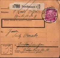 ! 1934 Paketkarte Deutsches Reich, Nordhausen Nach Gräfenhainichen - Lettres & Documents