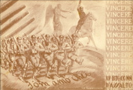 1940-XV Battaglione D'assalto S'om Amo' Chei VINCERE, Viaggiata - Guerra 1939-45
