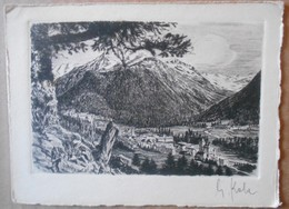 Pontrefina---Original Radierung - Handabzug – Signiert (eau-forte, Signée), A. Kahn---Schocher - Illustratori & Fotografie
