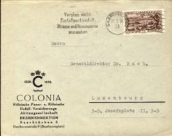 1935-Saargebiet Sarre Lettera Per Il Lussemburgo Affrancata 75c. Michel No.115 - Germania