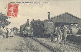 SAINT ANDRE DE SANGONIS - La Gare  - Locomotive D 73 - Citerne M.T. 356012 P.     (2026 ASO) - Sonstige Gemeinden