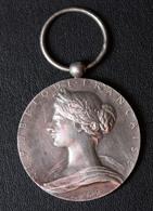 """Médaille Décoration (sans Ruban) Argent Poinçonné O. Roty """"Sapeurs Pompiers / Ministère De L'Intérieur"""" Sapeur Pompier - Pompiers"""