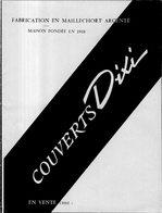COUVERTS DIXI MAISON FONDEE EN 1918 DEPLIANT DE TROIS VOLETS + FEUILLE SUR MODELE GALA - Publicidad