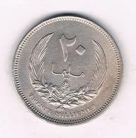 20 MILLIEMES 1965 LIBIE /44/ - Libië