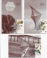 ISRAEL, 1995, Maxi-Card(s), Kites - Dragons, SG1276-1278, F5491 - Tarjetas – Máxima