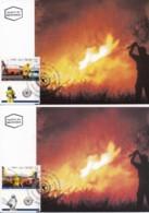 ISRAEL, 1995, Maxi-Card(s), Fire & Rescue, SG1291-1292, F5496 - Tarjetas – Máxima