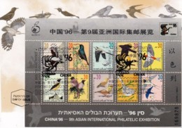 ISRAEL, 1996, Maxi-Card(s), China '96 - Song Birds, SGMS1312, F5500 - Tarjetas – Máxima