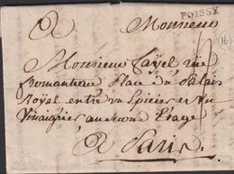 MARQUE POSTALE YVELINES RARE GRIFFE DE POISSY SUR LETTRE LUXE - Poststempel (Briefe)